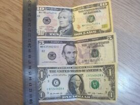 17$ US Dollars, All notes