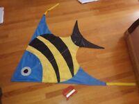 Large Brookite Fish Kite - gift - never used