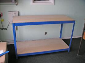 Boltless Chipboard Workbench Table 140cm x 60cm x 90cm
