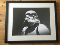"V.Cool Looking, FRAMED STAR WARS STORMTROOPER Giclee Print. 20"" x16"""