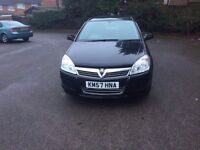 2008 Vauxhall Astra1.6 Petrol Estate Black in Excellent Condition Excellent Drive Large booth