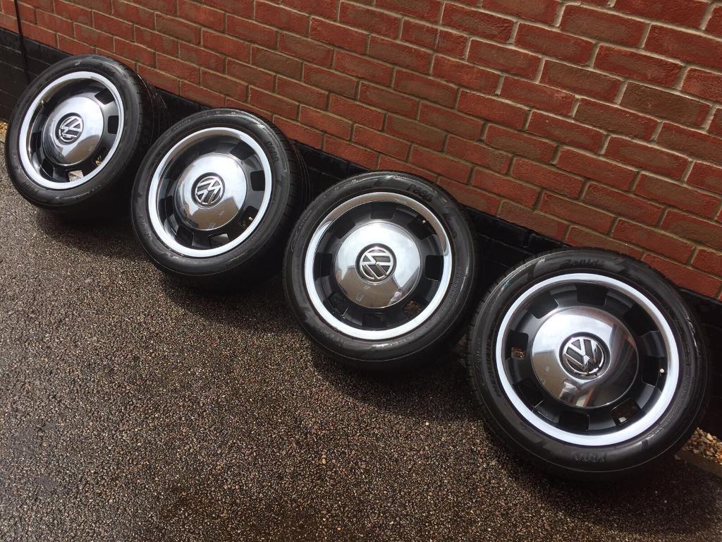 Vw Beetle Retro Wheels 5x112 T4 Transporter Golf Passat 225 50zr17 98w In Costessey Norfolk