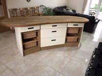 Kitchen Island - Solid Oak Top