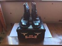 Brand new, men's black ankle Joe Sanchez cowboy boots