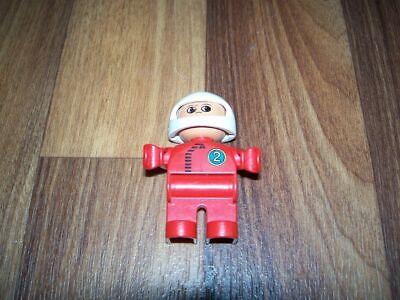 Bau-Arbeiter LEGO DUPLO Figur Bauarbeiter rot-blau weißer Helm Baustelle