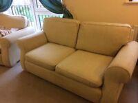 2+2 seater sofas Cream £250