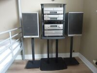 Denon Component Hi-Fi System, with Speakers and Stand.