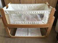 Snuzpod 2 bedside crib and extras