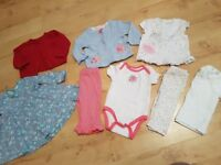 REDUCED bundle of baby girl newborn and 0-3 clothes antrim