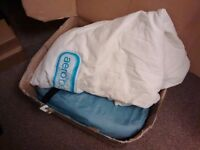 Aerobed - Air bed/inflatable double mattress very good condition £80