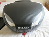 48 litre 2 full face helmet SHAD top box complete with accessories
