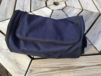 Navy blue canvas golf shoe bag