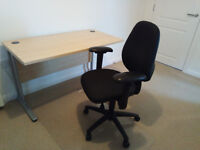 Desk, Adjustable Office Chair and Chair Mat - Great Condition
