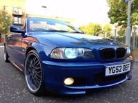 "bmw 325ci sport convertible 2003 manual 19"" alloys 103k fsh"