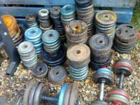 cast iron weights , weight plates over 300 kg,dumbbell x 20
