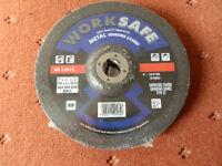WORKSAFE 180mm x 6mm DEPRESSED CENTRE METAL GRINDING DISCS WHEELS - PACK OF 5