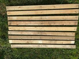"""Reclaimed timber pallet fence wood 47"""" long man cave bar"""