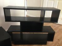 Tv stand and small book case