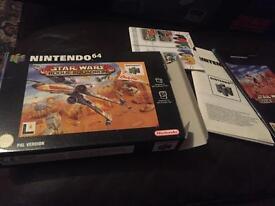 Nintendo 64 empty game box & instructions