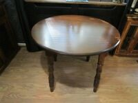 Vintage Solid Oak Round Dining Table