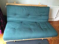 Forest green futon