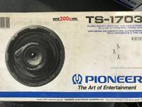 Pioneer TS-1703 FLUSH MOUNT SPEAKER 200W 16CM 6.5 INCH COAXIAL 3 WAY