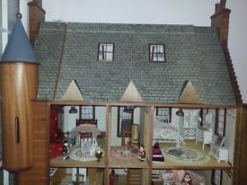 large dolls house and furniture one off comes with working lights not a toy