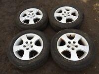 "For sale - Nissan Almera / primera 16"" alloy wheels - excellent tyres"