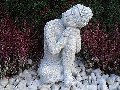 Steinfigur Buddha, 168/5 Feng Shui, Gartenfigur Deko Geschenk Figur Skulptur