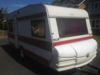 Fixed bed 4 berth hobby prestige. With extras