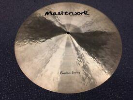 "Masterwork Custom Series 19"" Crash Cymbal - MINT Condition"