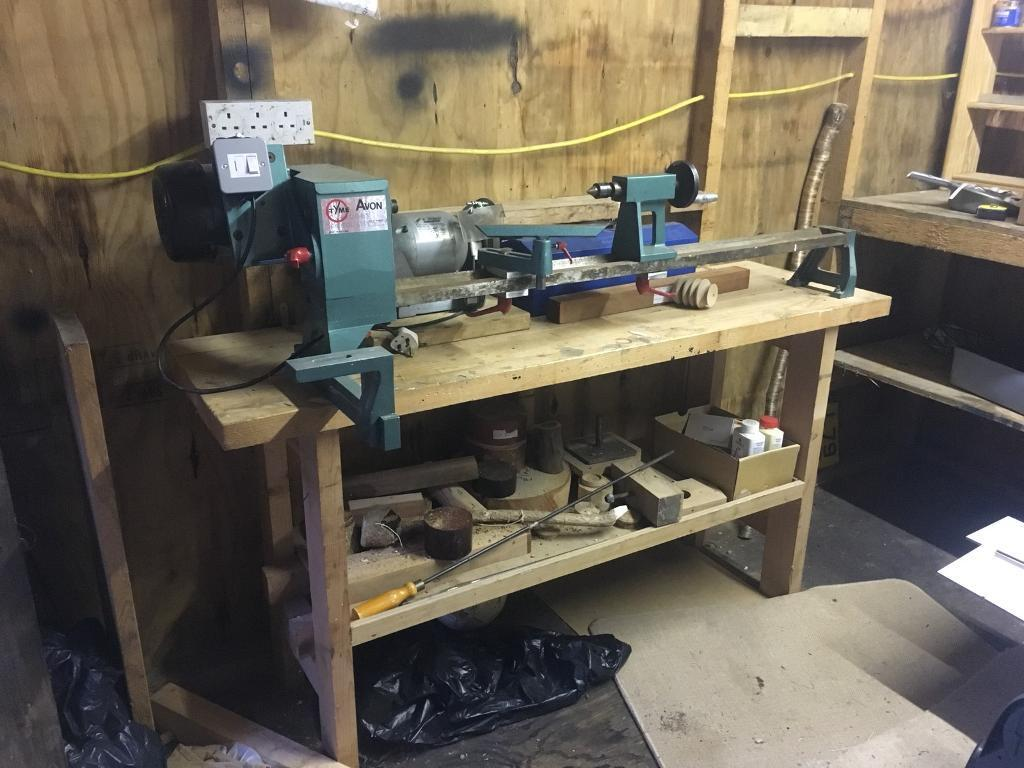Wood Turning Lathe Tyme Avon With All Accessories In Inverness