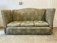 "Vintage ""Knole"" Drop Arm Settee."