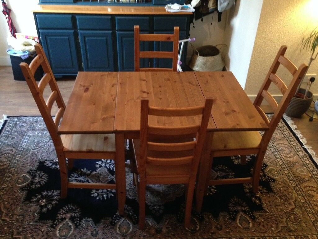 Ikea Ingatorp Drop Leaf Table Seats 2 4 With Chairs