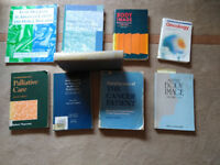 ####REDUCED 9 books, cancer / body image / palliative care research books, £5.00