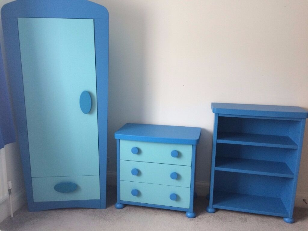 nursery kids blue wardrobe shelf and drawer mammut ikea set perfect condition in southgate. Black Bedroom Furniture Sets. Home Design Ideas