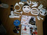 Wii accessories and 6 games
