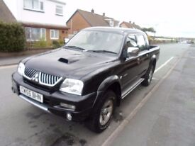 MITSUBISHI L200 DOUBLE CAB PICK UP(Trojan 2.5 turbo diesel 93000 miles full mot