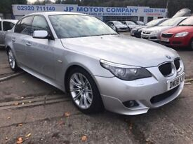 2008 BMW 525D SPORT SILVER **NEW MOT**FULL SERVICE HISTORY ** LIKE 530D 535D SAT NAV TOP SPEC CHEAP