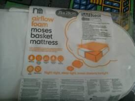 Mother care airflow foam moses basket mattress