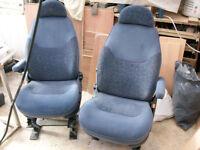 Details about van captain seats pair of, campervan motorhome, vw transit vivaro trafic ect
