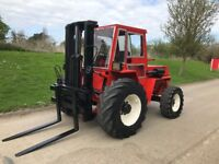 Manitou 2.6ton rough terrain forklift/ loader 4x4 with bucket