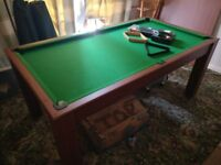 6ft Mars Deluxe 3-in-1 Multi Games Table Pool Table Table Tennis Combined