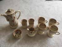 Fosters pottery - honeycomb tea/coffee set - vintage