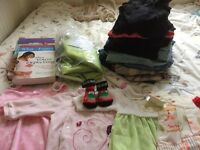 Maternity pack -clothes, yoga ball, books,