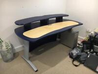 AKA Design ProMedia Desk in blue / maple