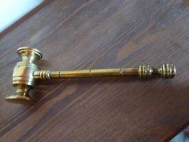 Solid Brass Gavel & Art Deco Candle Sticks...