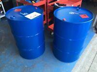 Oil drums, burning barrels, garden burner, drum BBQ, steel drums 205 litre 44 gallon regular supply