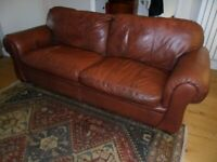 Large Harvey's used 3 Seater leather sofa-good Quality-Furniture-Collection Only