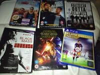 5 dvds 1 game